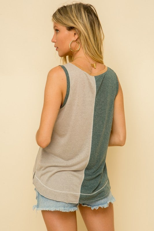So Soft Colorblock Tank