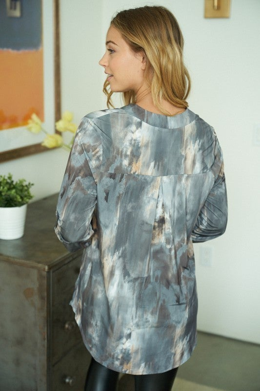 Watercolor Gabby Top - LIMITED STOCK