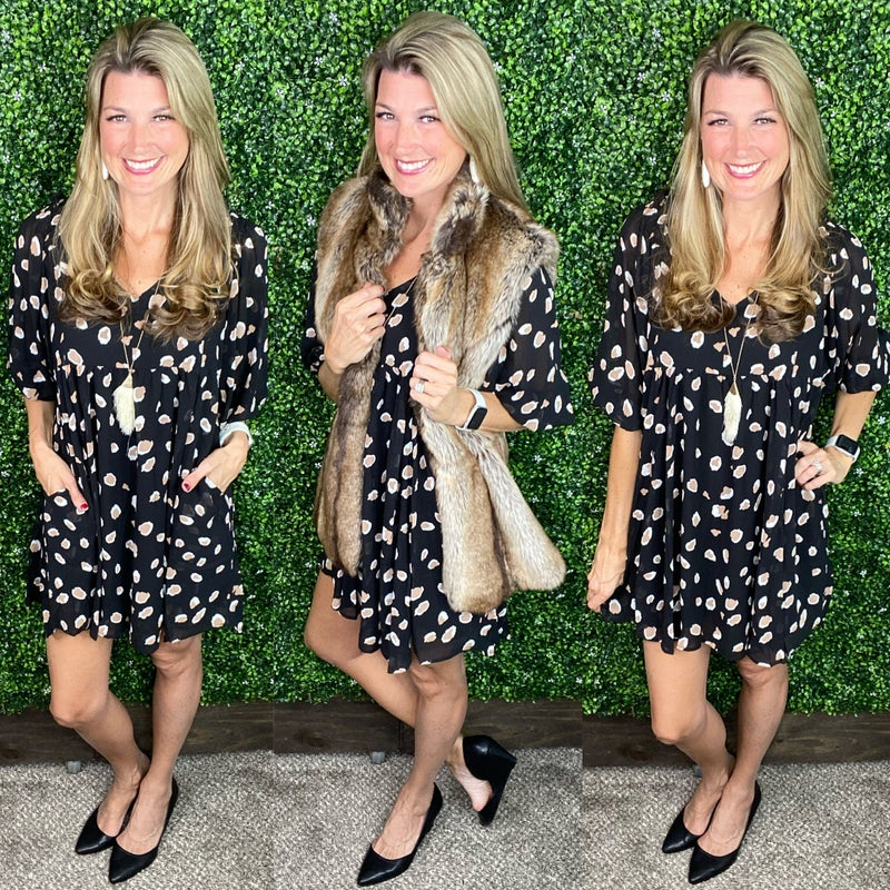 Another Story Leopard Dress