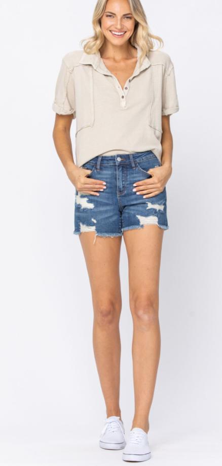 Judy Blue Destroyed Cut Off Shorts