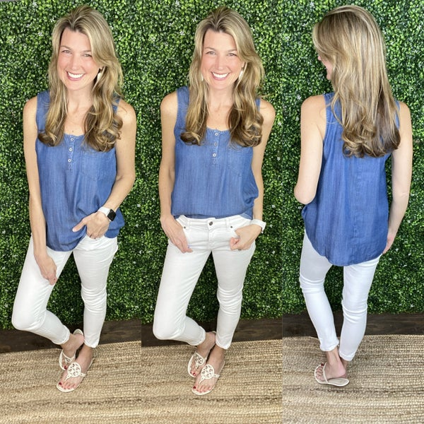 Chambray Dreams Top