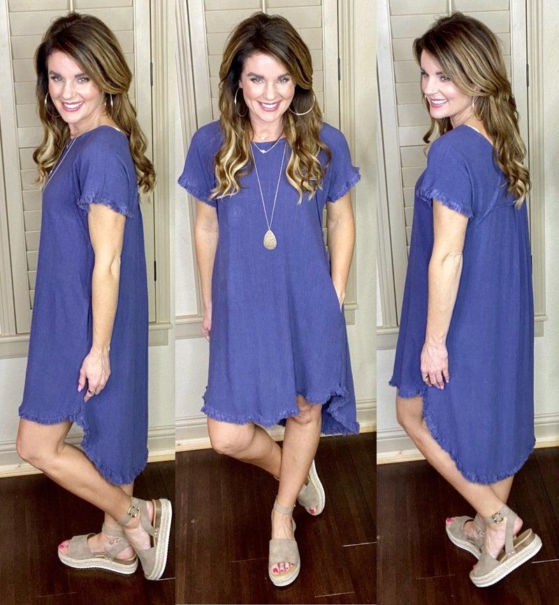 Beach Villa Linen Blend Dress