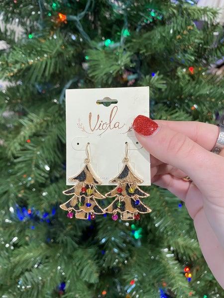 Rockin' Christmas Tree Earrings
