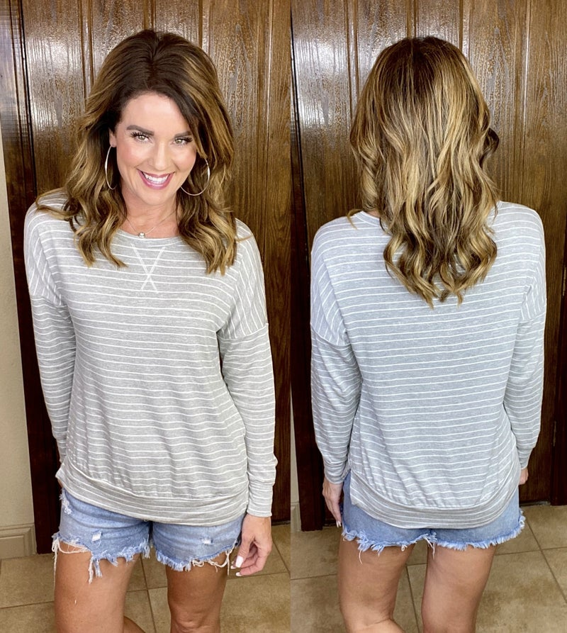 Simple Stripes Lightweight Pullover