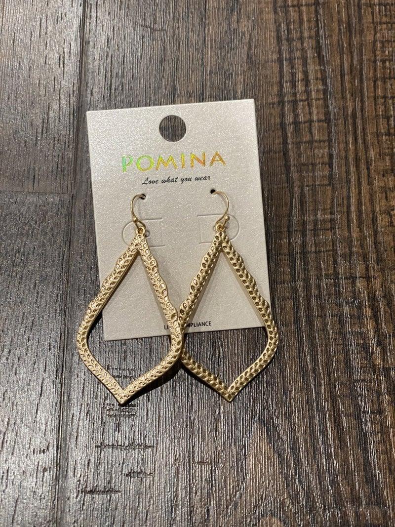 Designer Inspired Medallion Drop Earrings
