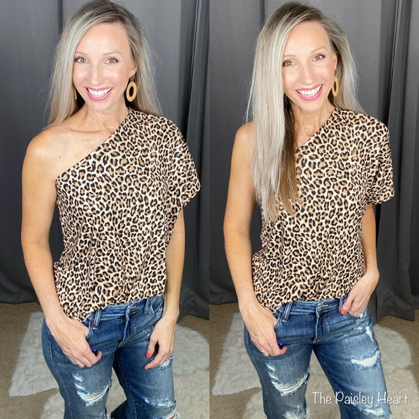 Meow and Then One Shoulder Top