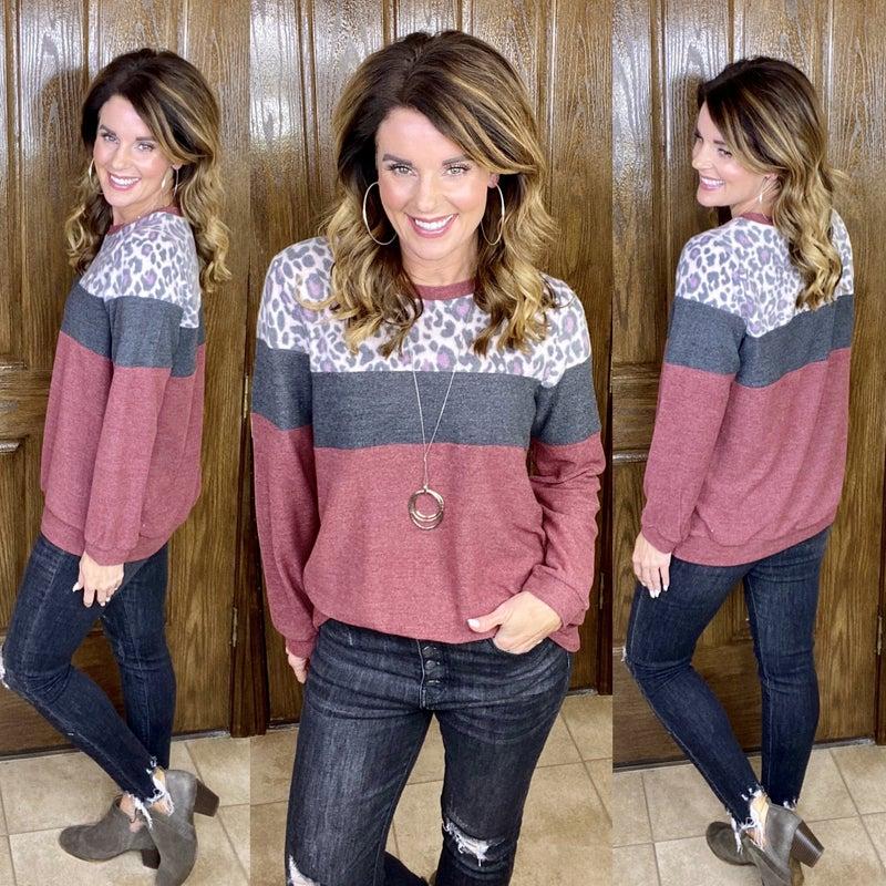 Wild Colorblock Soft Pullover