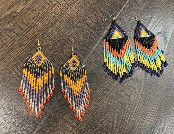Beaded  Boho Fringe Earrings - LMTD STOCK!!