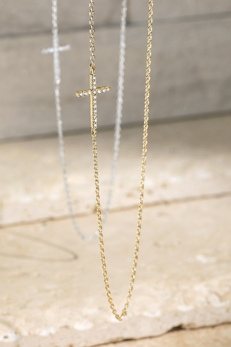 Forever Faithful Cross Pendant Necklace