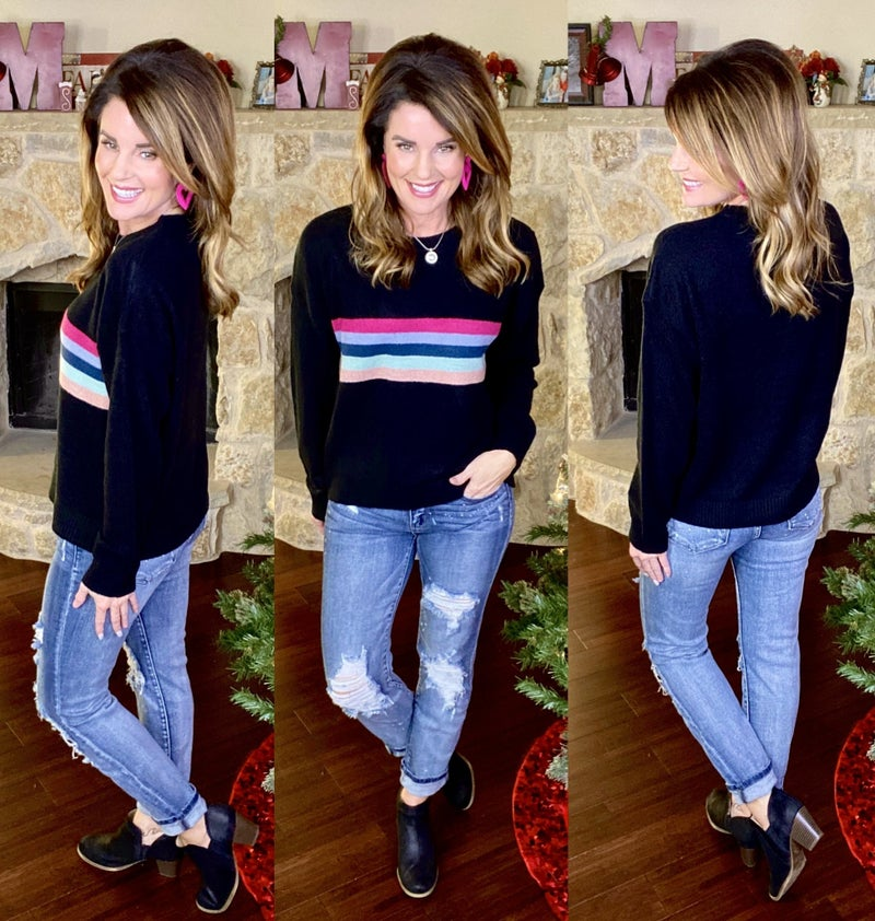 Brynn Striped Sweater