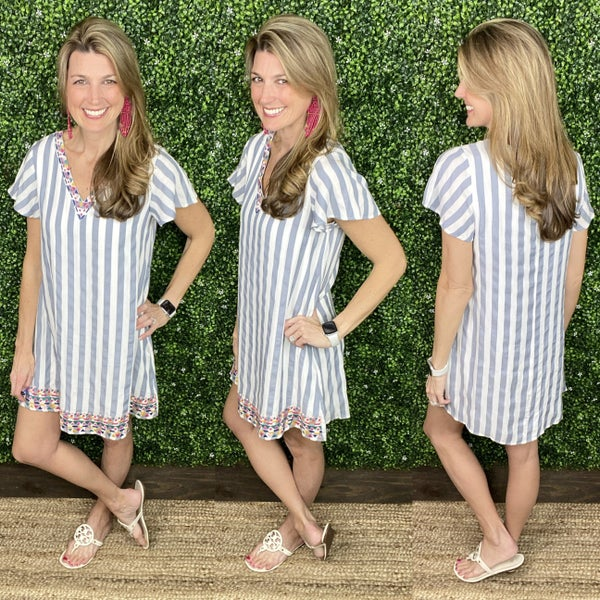 Boardwalk Brunch Stripe Dress