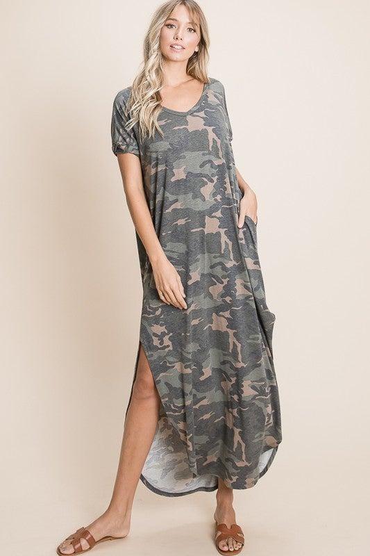 Camo Crushin' Maxi Dress
