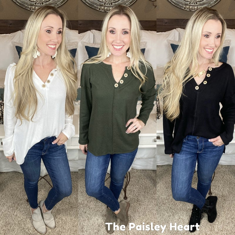 Ansley Top - 2 NEW COLORS!