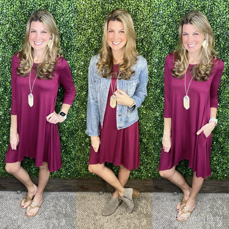 Dillon Essential Dress: 2 Colors!