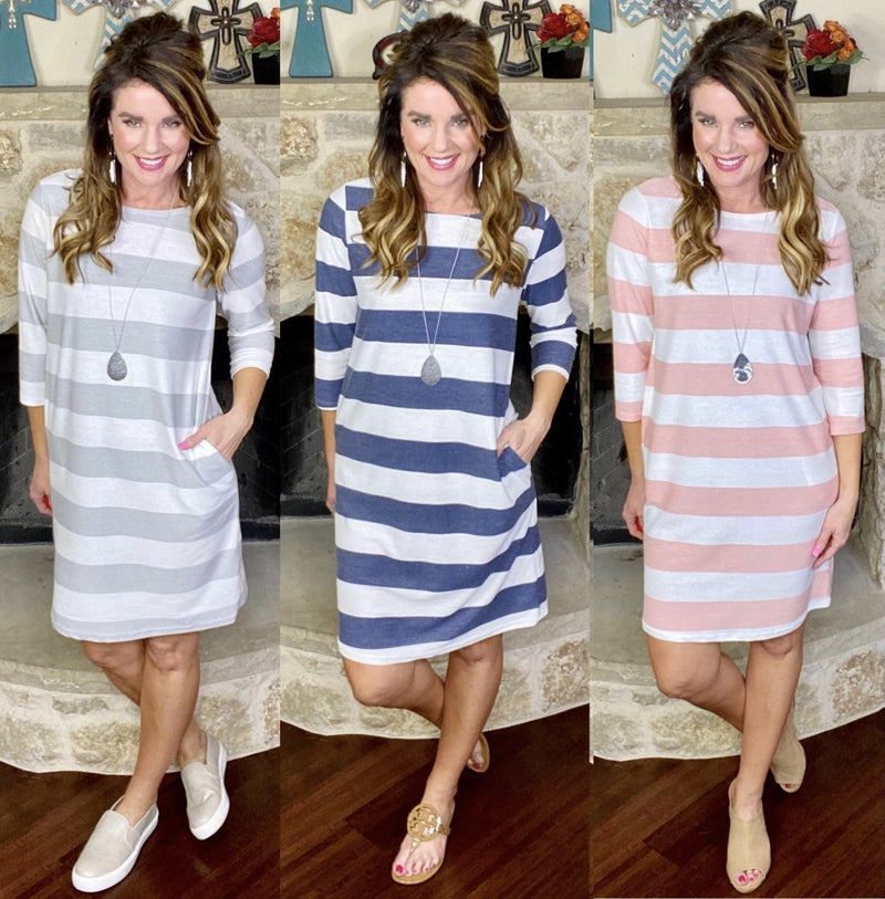 Madeline Striped Dress