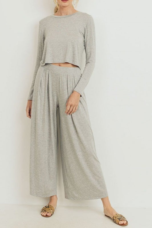 Jersey Knit Solid Culotte Set - LIMITED! NO RESTOCK AVAILABLE!