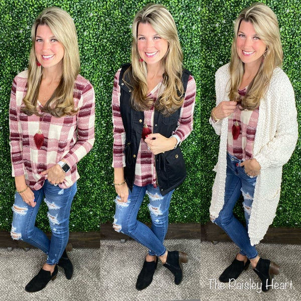 Headed To You Plaid Tunic