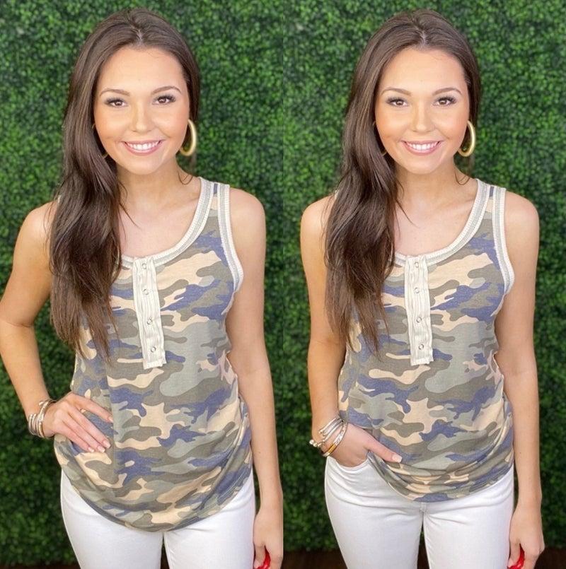 Carlie Camo Tank