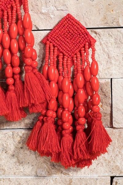 LIGHTWEIGHT Bead and Tassel Earrings