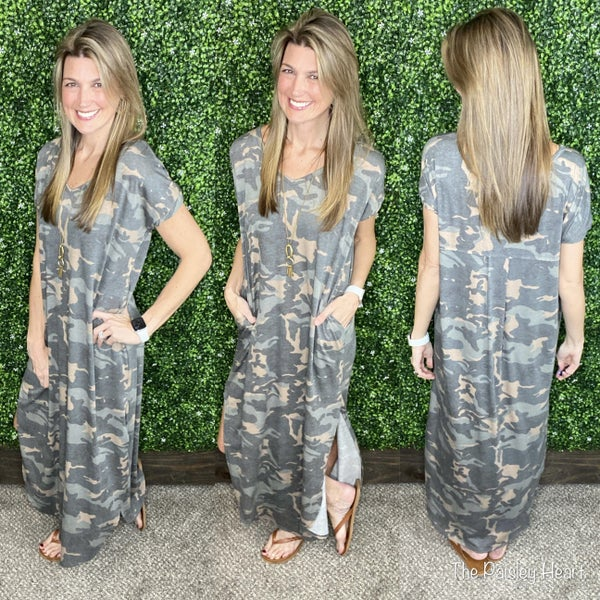 Camo Crushin' Maxi Dress