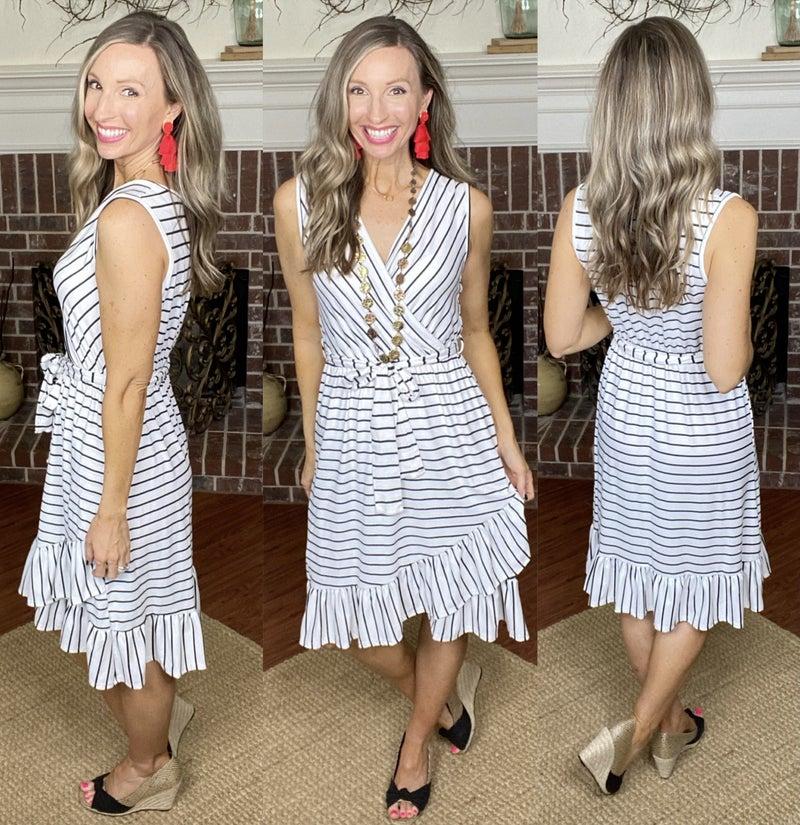 Serendipity Hi Low Wrap Dress: NEW COLOR!