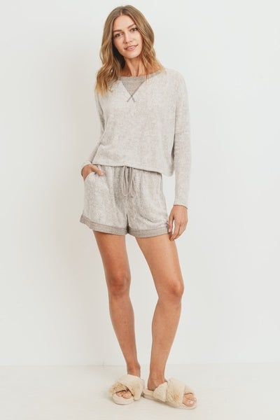 Teddy Bear Brushed Knit Top & Shorts - LMTD!