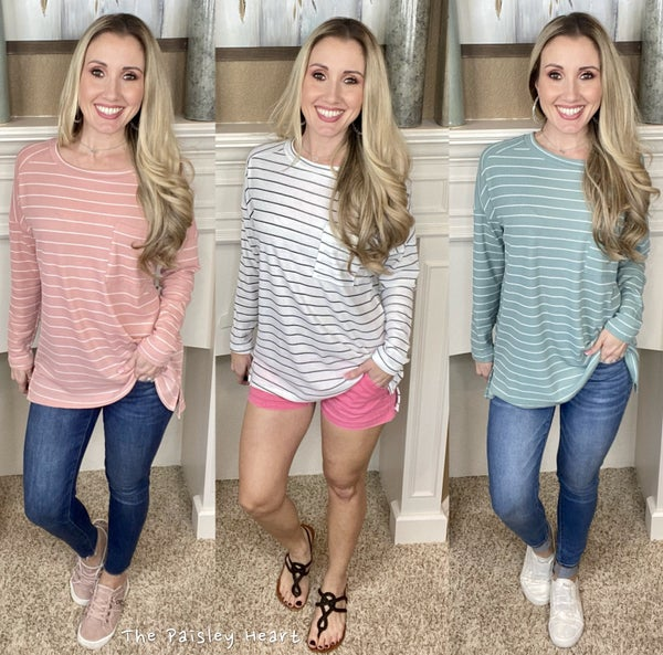 Free Style Stripe Top