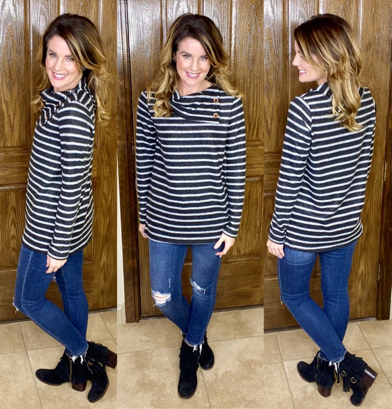 Timeless Style Button Collared Soft Tunic