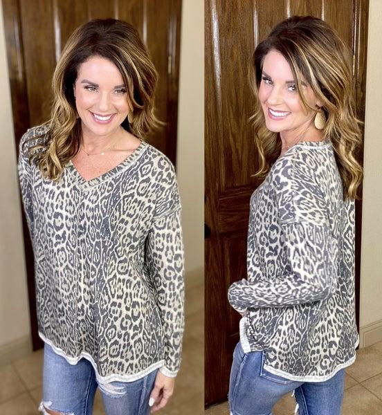 Sassy Leopard Top