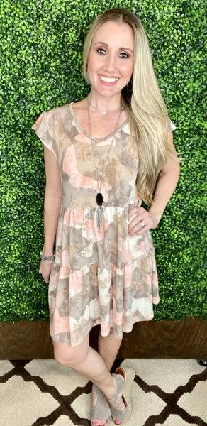 Pretty & Poised Camo Dress