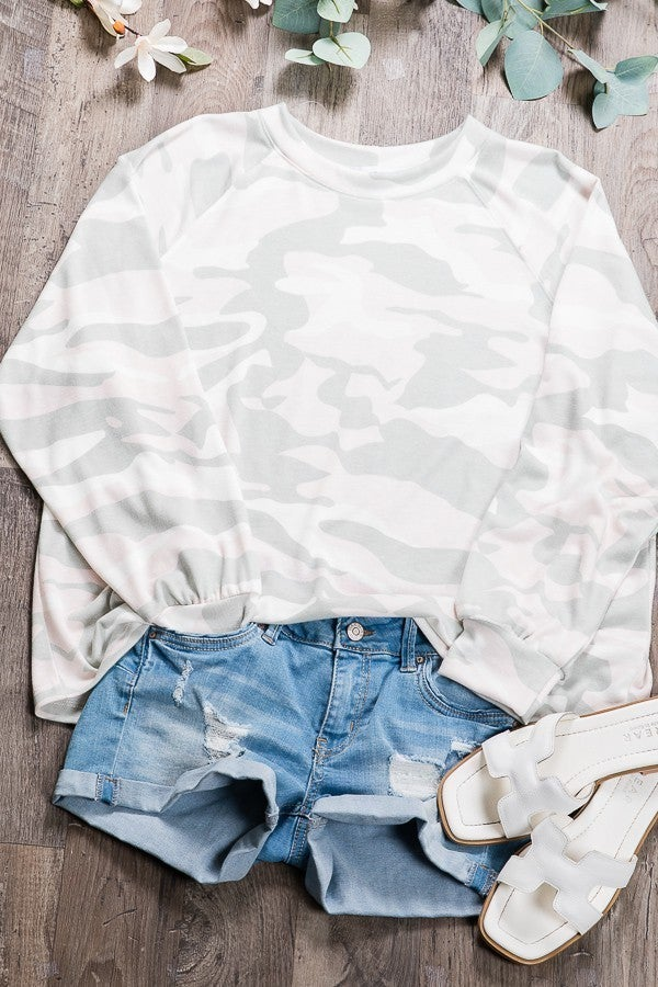 Comfy in Camo Pullover