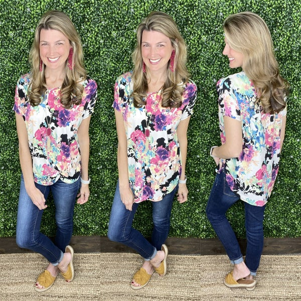Floral Party Tunic