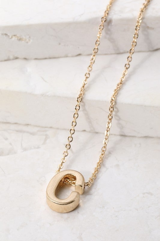 Initial Pendant Necklace - GOLD: LMTD STOCK!