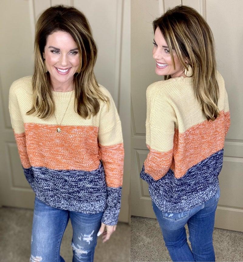 Ice Latte Colorblock Sweater