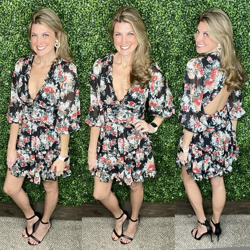 I'm Frilled Floral Dress