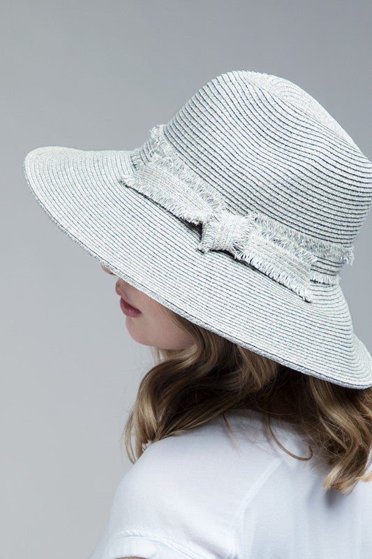 Miriam Natural Straw Wide Brim Panama Hat