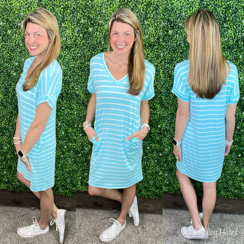 Lacey Day Dress - Stripes