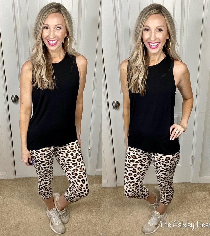 Leopard Print Cropped Leggings
