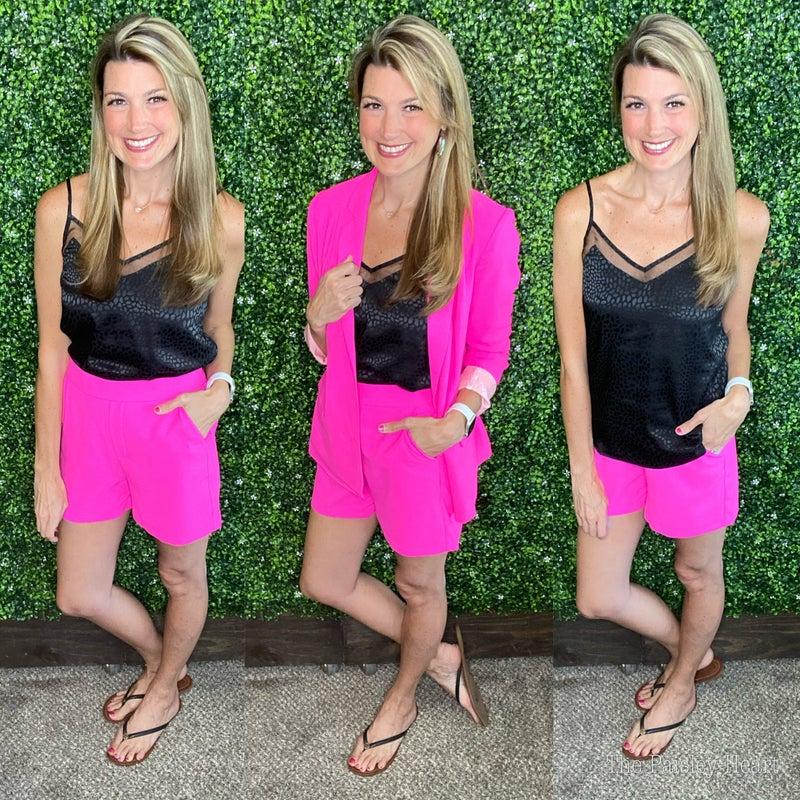 Premium Plain Front City Shorts