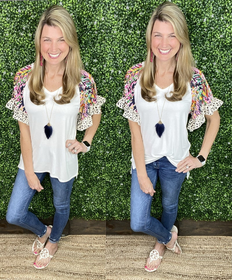 Femininely Accented Top