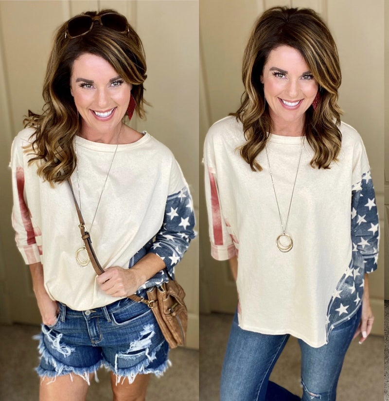 Let Freedom Ring Boho Top