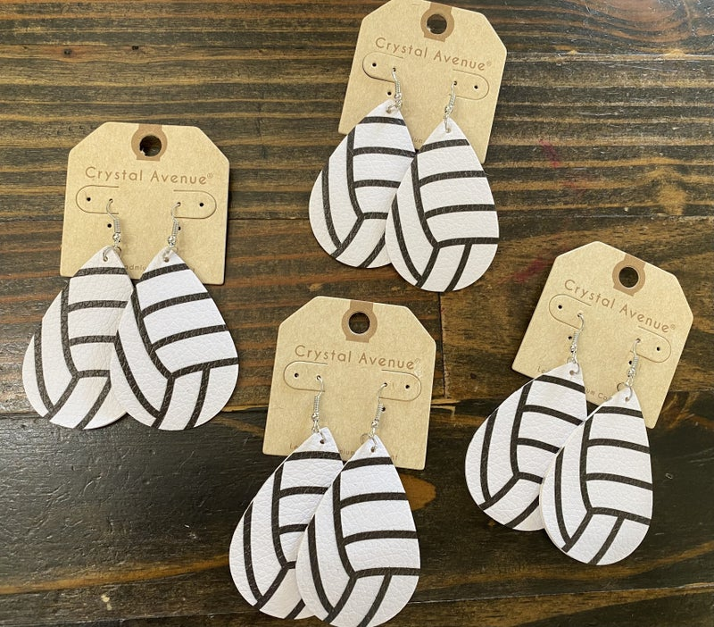 Game Day Lightweight Leather Earrings