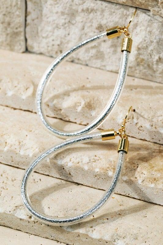 Glitter Tube Earrings - waterproof!