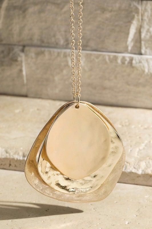 Triple Layered Pendant Necklace