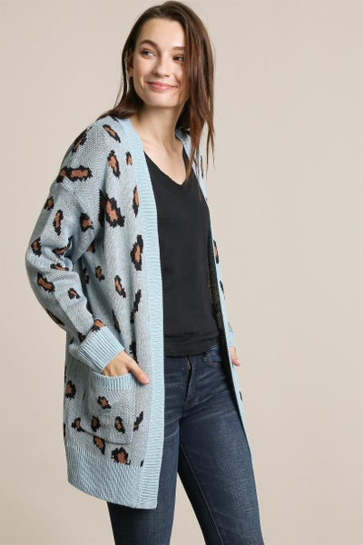 Wild Skies Open Front Cardigan