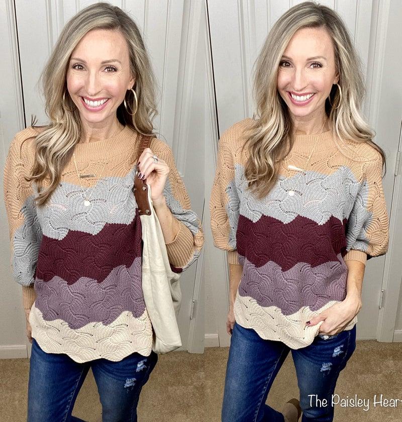 Hayden Sweater- Quin Colorblocked!