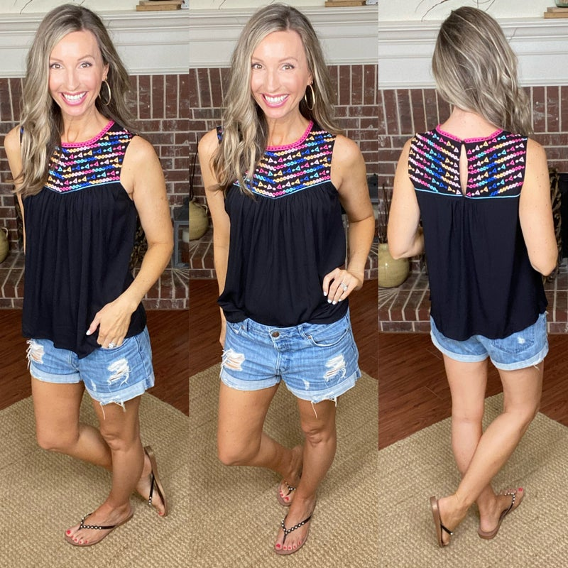 Ashley Embroidered Top