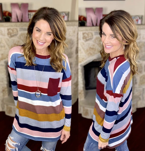 Striped Joy Top