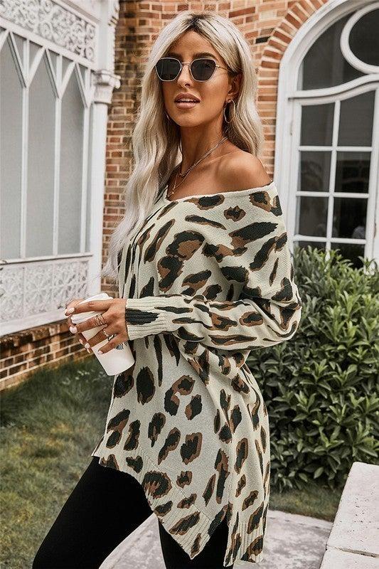 Ari Leopard Sweater