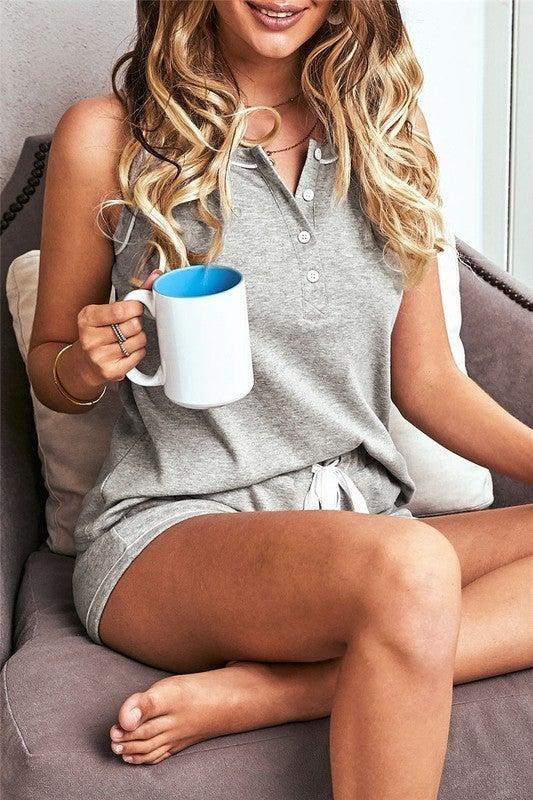 Knit Sleeveless Shorts Pajamas Set - LMTD!! NO RESTOCK!
